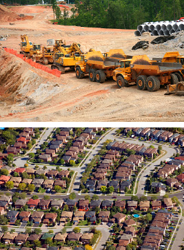bulldozers & residential land development